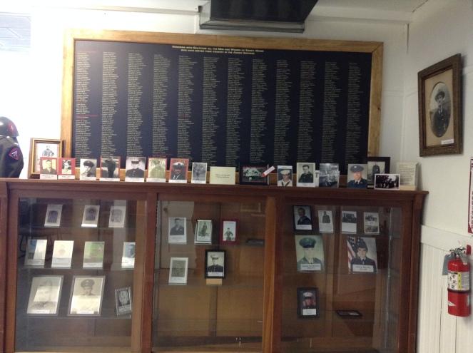 Veterans Corner at teh Museum